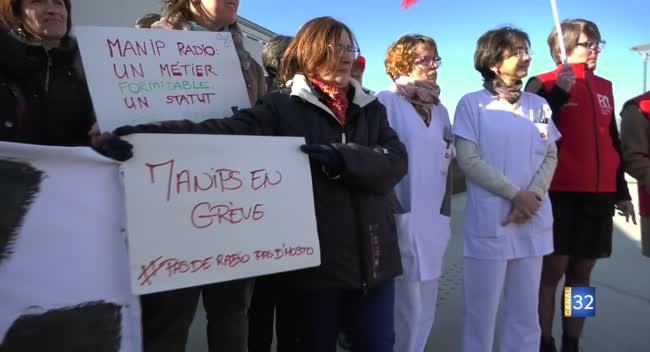 Canal 32 - Hôpital de Troyes : les manipulateurs radio en grève pour se faire entendre