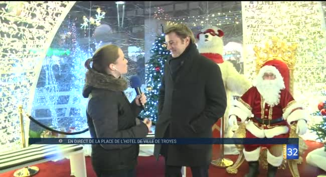 Canal 32 - Illuminations de Noël à Troyes : c'est parti ! Vidéo.