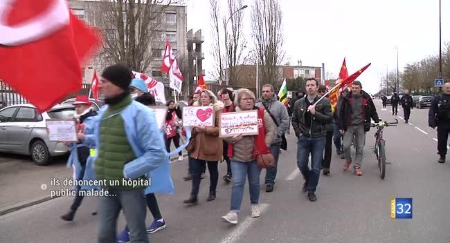 Canal 32 - Troyes : une manifestation pour dénoncer un hôpital public malade