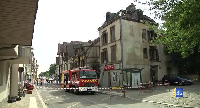 Canal 32 - Incendie rue Kléber à Troyes : le périmètre toujours sous surveillance