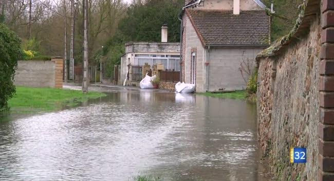 Canal 32 - Périgny, La Villeneuve-au-Châtelot, Barbuise... Au tour du Nogentais d'être touché par la crue.