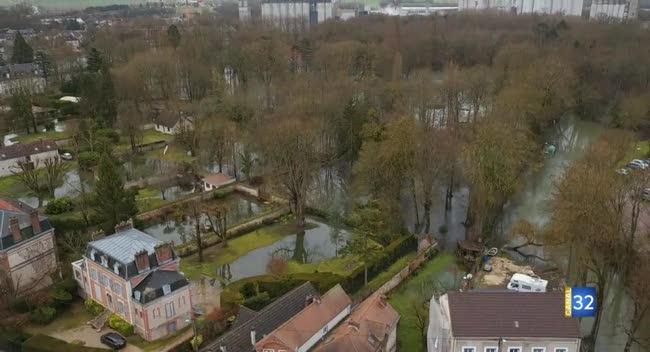 Canal 32 - Inondations : Nogent-sur-Seine et ses environs en images (drone).