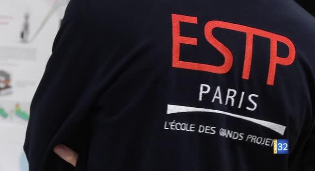 Canal 32 - Instant Etudiant : l'exposition Construire l'ESTP