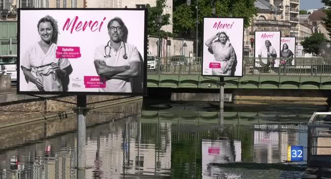 Canal 32 - 14 juillet à Troyes : pas de feu d'artifice mais un hommage, en photos, aux soignants