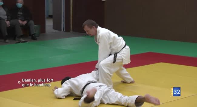 Canal 32 - Judo : Damien, plus fort que le handicap