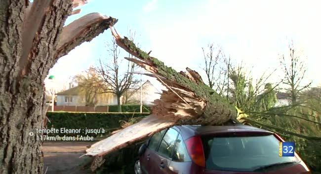 Canal 32 - Jusqu'à 117km/h enregistrés dans l'Aube pour la tempête Eleanor. Le point complet.