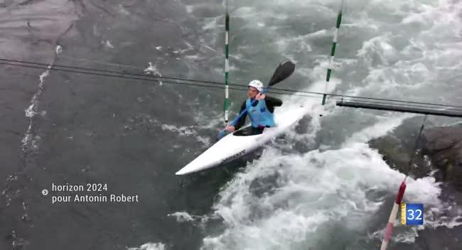 Canal 32 - Kayak : les jeux olympiques 2024 en ligne de mire pour Antonin Robert