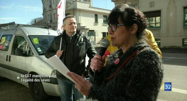 Canal 32 - La CGT manifeste pour l'égalité des sexes