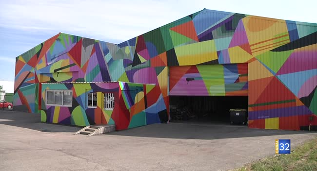 Canal 32 - La Chapelle Saint-Luc : la fresque du graffeur Ankh One achevée