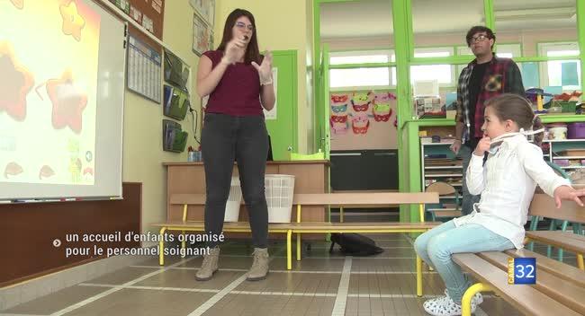 Canal 32 - La Chapelle Saint-Luc : un service minimum d'accueil d'enfants en faveur du personnel soignant