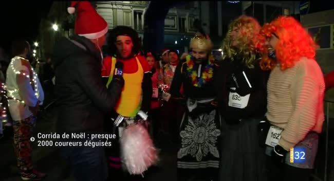 Canal 32 - La Corrida de Noël attire presque 2000 coureurs déguisés à Troyes !