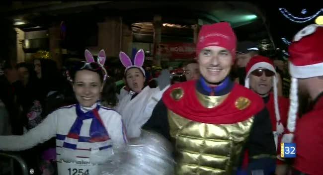 Canal 32 - La Corrida de Noël rassemble 1900 coureurs déguisés