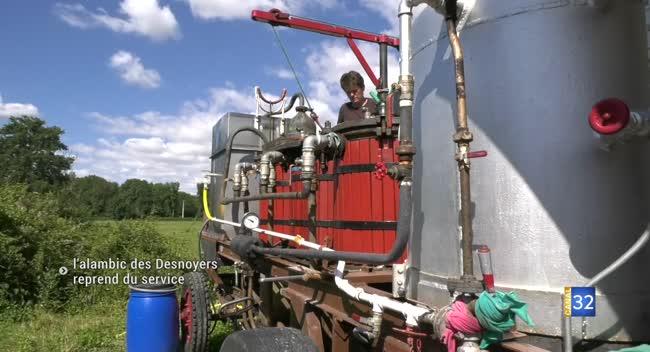 Canal 32 - La Coudre : la distillerie des Desnoyers reprend du service