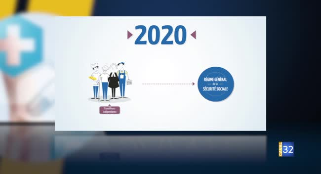 Canal 32 - La démarche qui va bien - Les travailleurs indépendants rejoignent le régime général de l'assurance maladie