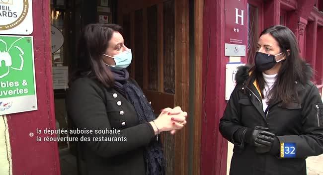 Canal 32 - La députée auboise Valérie Bazin-Malgras favorable à la réouverture des restaurants