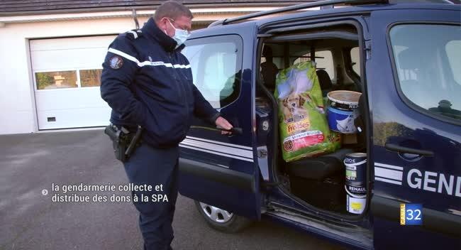 Canal 32 - La gendarmerie de l'Aube collecte et distribue des dons pour la SPA