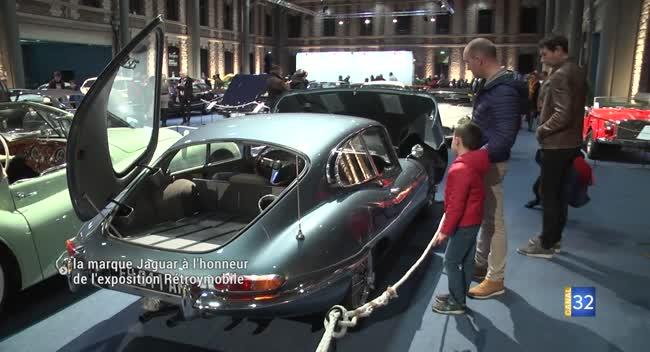 Canal 32 - La marque Jaguar à l'honneur de l'exposition Rétroymobile