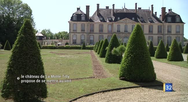Canal 32 - Le château de La Motte Tilly attend la réouverture pour proposer de se mettre au vert
