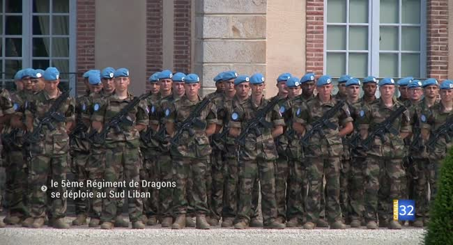 Canal 32 - La Motte-Tilly : le 5ème régiment de Dragons part intervenir au Sud Liban