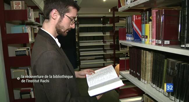 Canal 32 - La bibliothèque de l'Institut Rachi de nouveau ouverte au public