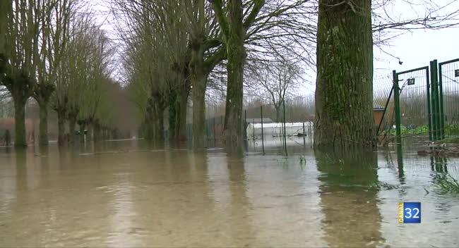 Canal 32 - La vallée de la Seine est aussi touchée par les inondations