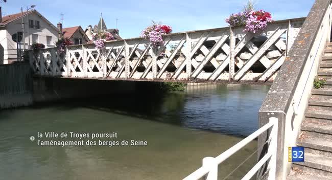 Canal 32 - La Ville de Troyes poursuit l'aménagement des berges de la Seine