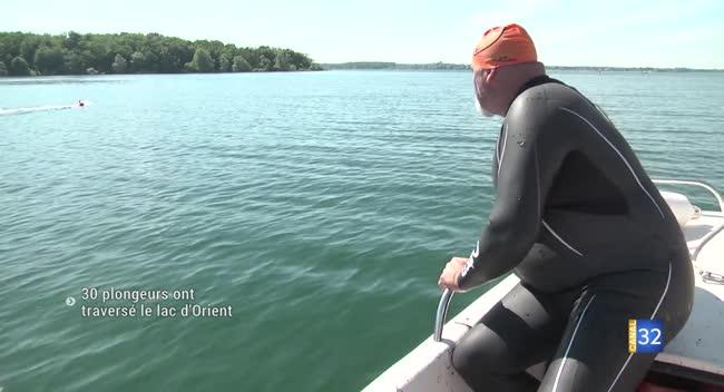 Canal 32 - Lac d'Orient : une traversée de 6 km à la nage pour 30 plongeurs