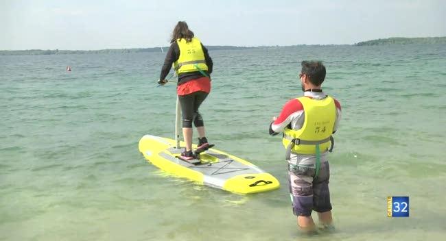 Canal 32 - Le paddle à pédales débarque sur le Lac d'Orient