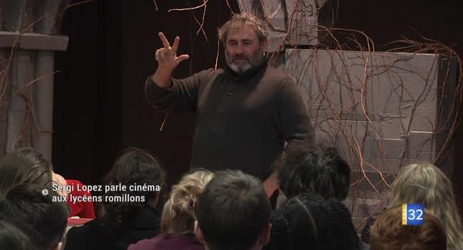 Canal 32 - Romilly-sur-Seine : l'acteur Sergi Lopez à la rencontre des lycéens