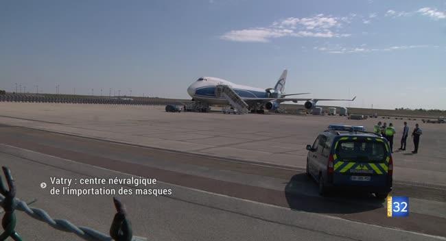 Canal 32 - L'aéroport de Vatry devient le centre névralgique de l'importation des masques