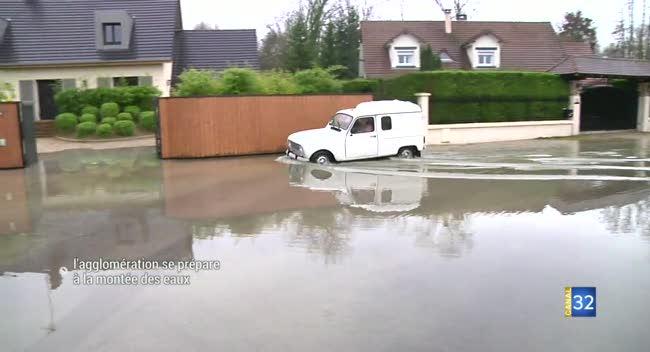 Canal 32 - Inondations : l'agglomération troyenne se prépare à la montée des eaux