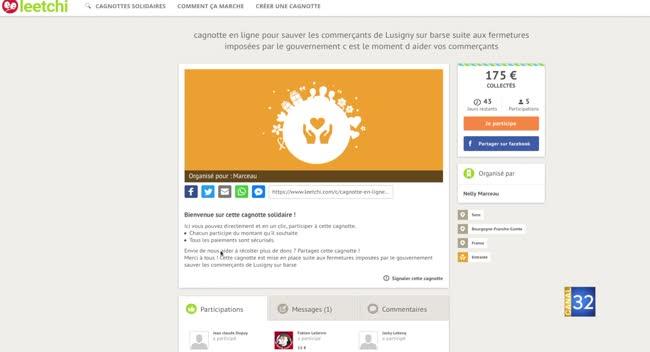 Canal 32 - Lancement d'une cagnotte solidaire pour les commerçants de Lusigny
