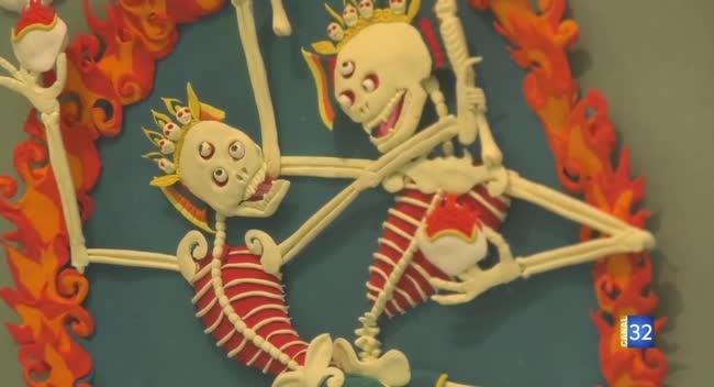 Canal 32 - L'artiste Mickaël Soutif expose la mort avec humour et légèreté