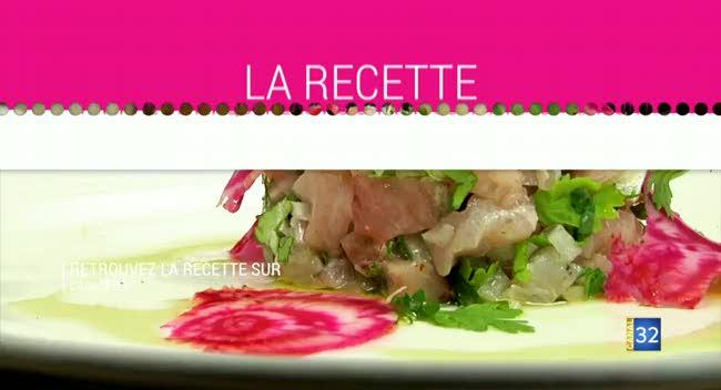Canal 32 - L'assiette auboise : Tartare de maquereau au citron combawa et raifort