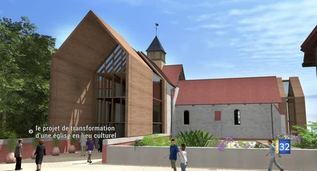 Canal 32 - Charmont-sous-Barbuise : l'association A Cloche Fontaine intègre une église dans un pôle culturel