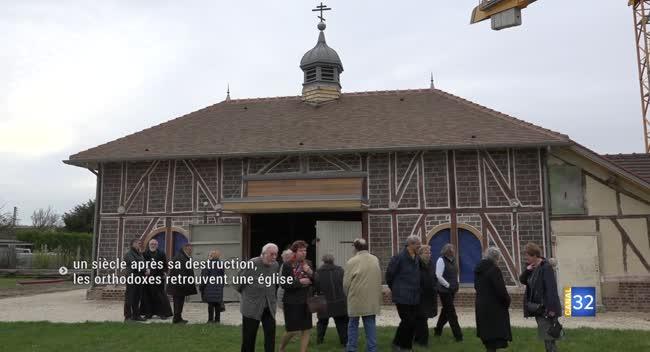 Canal 32 - Saint-André-les-Vergers : le chantier de l'église orthodoxe recourt aux compagnons du devoir