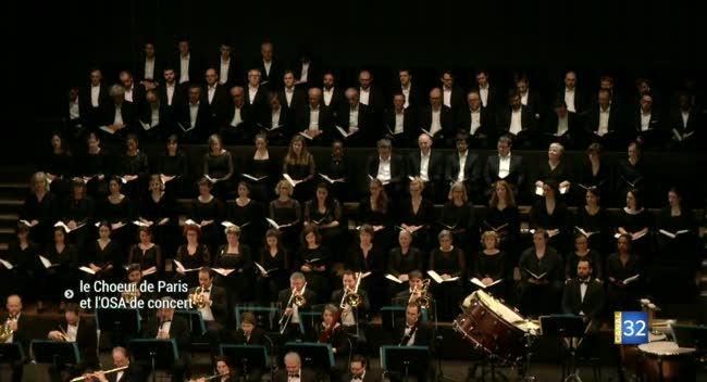 Canal 32 - Le Choeur de Paris et l'OSA jouent de concert à l'auditorium