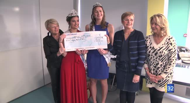 Canal 32 - Le comité Miss TCM donne 2150€ à l'Ecole des Enfants Malades