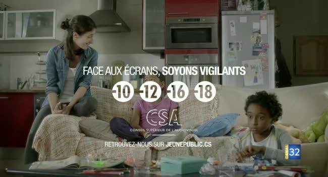 Canal 32 - Le CSA sensibilise aux risques liés à l'exposition des jeunes enfants à la télévision