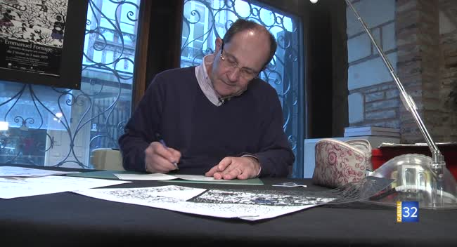 Canal 32 - Le découpeur d'art Emmanuel Fornage expose à Troyes