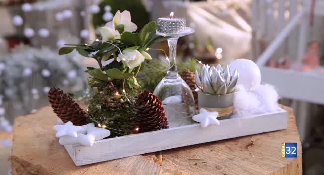 Canal 32 - Le Jardin de Nathalie - des décorations de table pour Noël