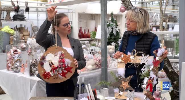 Canal 32 - Le Jardin de Nathalie - Créez votre décoration de porte pour les fêtes !