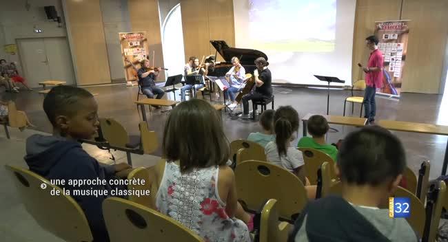 Canal 32 - Le Just Classik Festival fait découvrir la musique classique aux plus jeunes