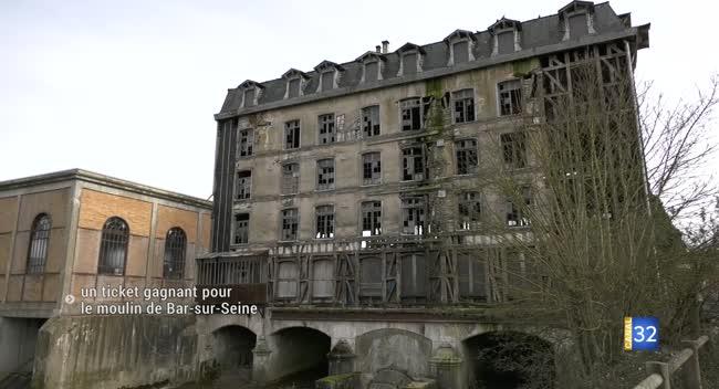 Canal 32 - Le moulin de Bar-sur-Seine décroche un tirage gagnant au Loto du patrimoine