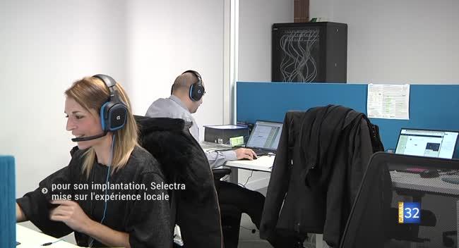 Canal 32 - Le nouveau centre d'appels de Selectra attend la fibre pour se développer
