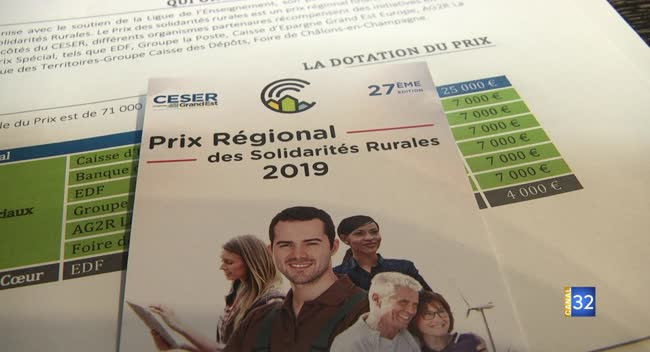 Canal 32 - Le prix régional des Solidarités Rurales attend des nouveaux candidats