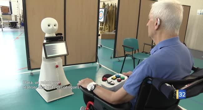 Canal 32 - Troyes : le robot Clara a réussi les tests au centre de rééducation Pasteur