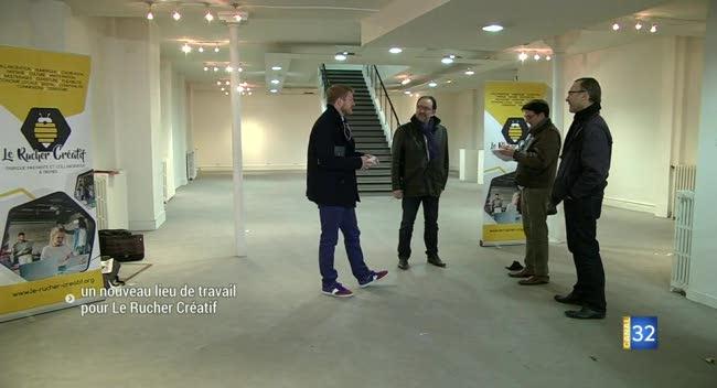Canal 32 - Le Rucher Créatif investit ses nouveaux locaux troyens