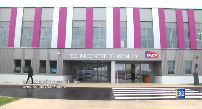 Canal 32 - Le Technicentre SNCF de Romilly-sur-Seine inauguré