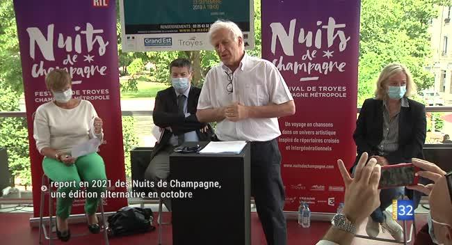 Canal 32 - Les 33èmes Nuits de Champagne reportées à 2021. Reportage.